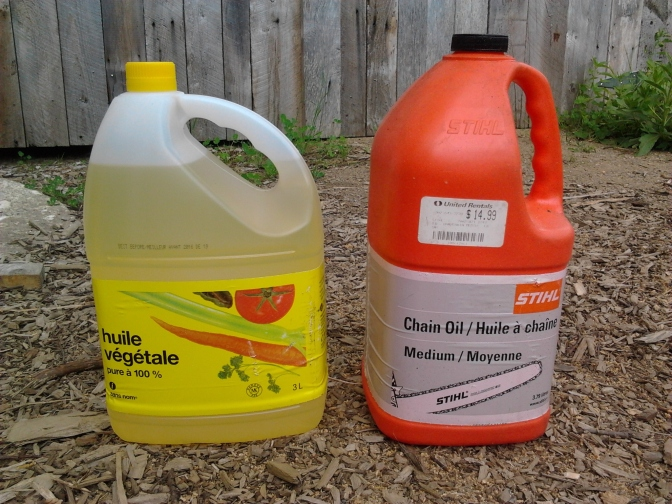 Vegetable chainsaw bar oil