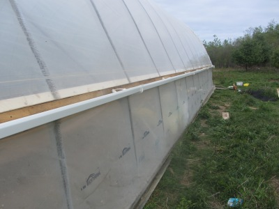 Putting Gutter on a Greenhouse